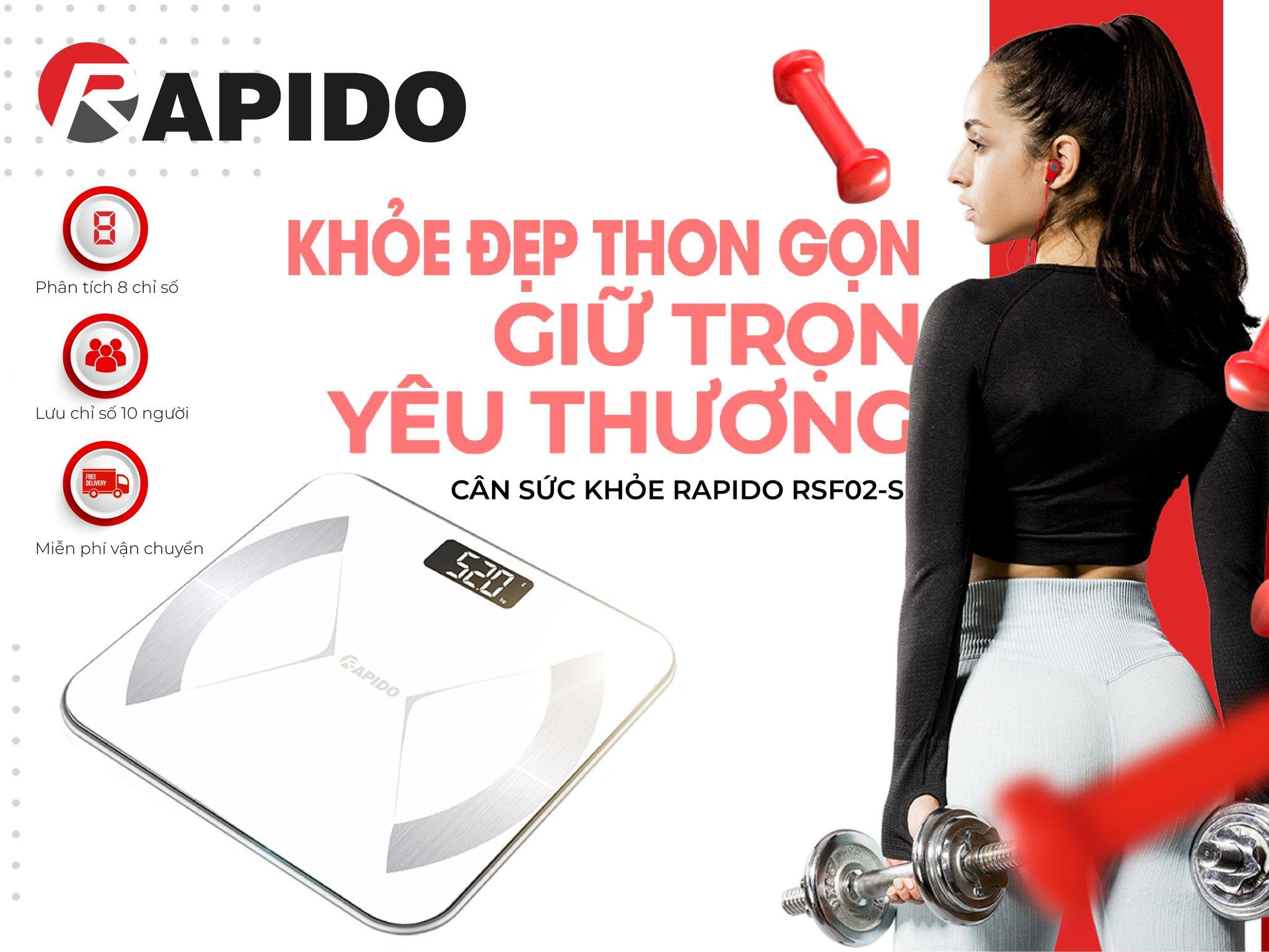 Cân thông minh Rapido – Cho cuộc sống khỏe mạnh dài lâu - Rapido.vn